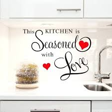 wall decals for kitchen red heart large e wall stickers kitchen decor home letter decoration removable