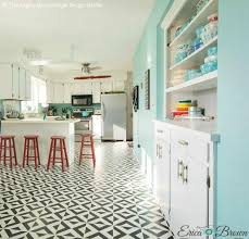 black and white tile floor kitchen. Painted Tile Floor Stencils That Anyone Can Do! 16 DIY Decorating Ideas For Remodeling Black And White Kitchen