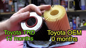 Toyota Trd Oil Filter 13 Months Vs Toyota Oem Oil Filter 0 Months