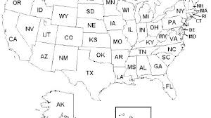 United States Map Coloring Page Pages Us Jimhannontan Info