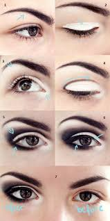 black and white makeup for small eyes