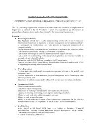 community employment ce supervisor new drug rehabilitation ce drug rehabilitation framework supervisor specification page0004
