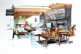 interior designers drawings. Interior Design Sketches Excellent Perfect Free Hand Drawing For Your House Designers Drawings