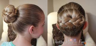 Pretty Girl Hair Style how to braided stacked hair bun tutorial pretty hair is fun 1419 by wearticles.com