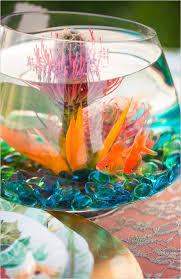 Fish Bowl Decorations For Weddings 100 EyeCatching Inexpensive DIY Wedding Centerpieces thegoodstuff 63