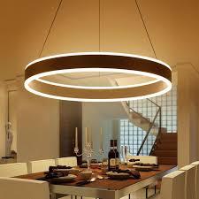 modern led ring pendant lights for dinning room living room restaurant kitchen white ac85 260v luminaire suspended pendant lamp pendant kitchen lights