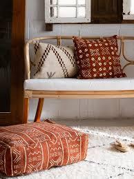 floor cushions.  Floor Moroccan Mud Cloth Floor Cushions  On