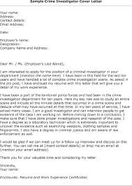 Investigator Cover Letter Examples Gallery For Website Supervisory