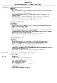 Millwright Resume Sample Cover Letter Millwright Mechanic Resume Samples Velvet Jobs S Sevte 19