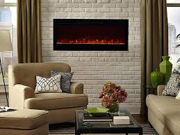 touchstone electric fireplace 50 onyx wall mounted with heater sidele