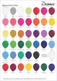Balloon Color Chart Colour Chart Latex Balloon Factory L Balloon Manufacturer