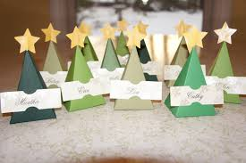 christmas placecard templates fur and green feathers christmas tree place cards