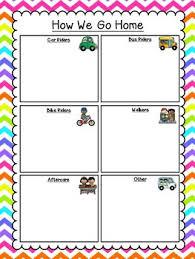 How We Go Home Clip Chart Neon Chevron Theme Classroom