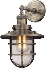 elk 66376 1 seaport nautical antique brass lighting wall sconce loading zoom
