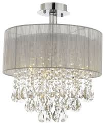 silver and crystal 15 w ceiling light chandelier flush mount