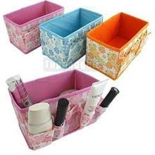 fl collapsible cosmetic desk organizer box storage conner bag