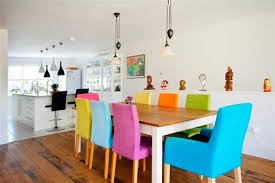 Colorful Dining Room Tables Impressive Decorating