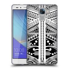 Head Case Silikonový Obal Na Mobil Honor 7 Vzor Maorské Tetování Motivy černá A Bílá Polynézie