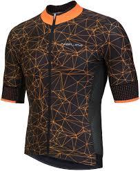 Pro Naranco Jersey Short Sleeve Cycling Jersey Black Orange E18 4150