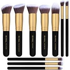amazon bs mall tm makeup brushes premium makeup brush set synthetic kabuki cosmetics foundation blending blush eyeliner face powder brush makeup brush