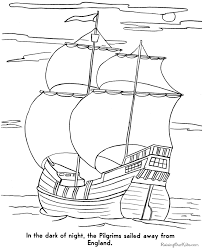 Mayflower Coloring Pages 003