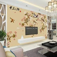 Small Picture Elegant Bird And Flower Wallpaper Custom 3D Wall Mural Vintage