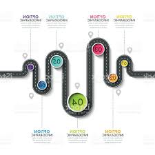 Winding Road Infographic Template With A Phased Structure Gm Lazttweet