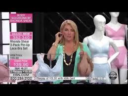Rhonda Shear 3pack Pinup Lace Bra Set