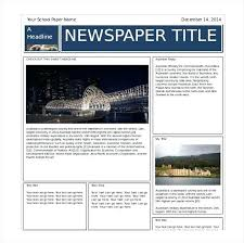 Editable Newspaper Template Word Newspaper Format Template For Word Lapos Co