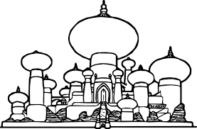 Small Picture Disney Graphics Aladdin Castle Coloring Page Wecoloringpage