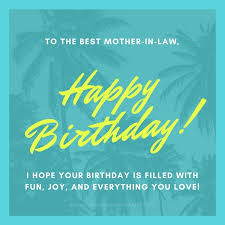 to the best mother in law happy birthday
