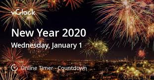 When is New Year 2020 - Countdown Timer Online - vClock