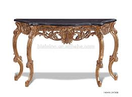 round console table. Bisini Half Round Console Table, Antique Luxury Hall Foyer Table With Hand Carving (