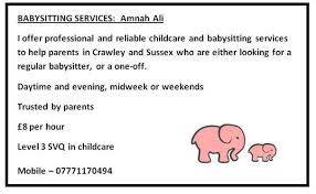 Professional Babysitting Services Babysitting Services Professional And Reliable Crawley