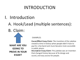 argumentative essay lessons teach informational essay leads claims subheading outline