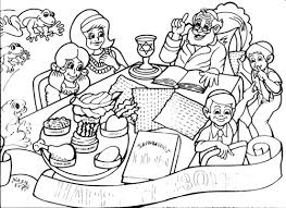 Small Picture Passover Coloring Placemat