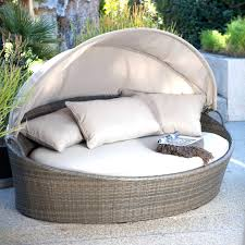 canopy outdoor bed patio furniture day lounge with sun shade only have to  it coral coast