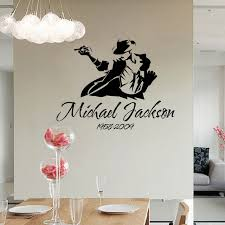 Small Picture Aliexpresscom Buy Removble Michael Jackson Sketch Wall Stickers