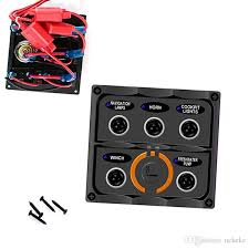 car marine boat 5gang fuse toggle switch panel with 2 port usb 20 Amp Fuse Switch at Fuse Box To Tagle Switch