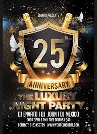 9 Anniversary Party Flyers Psd Ai Indesign Free