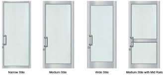 4 main types of aluminum doors