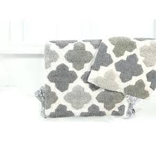 moroccan bath mat cotton tile bath rug set with step out mat moroccan trellis bath rug