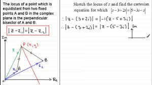 complex numbers loci perpendicular bisector examsolutions maths tutorials