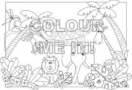 Items Similar To Jungle Animals Colouring Page Sheet On Etsy
