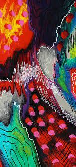 1125x2436 wallpaper glitch, modern ...