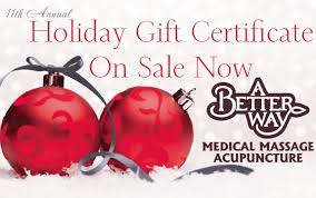 Holiday Gift Certificates 11th Annual Holiday Gift Certificate Sale On Now A Better