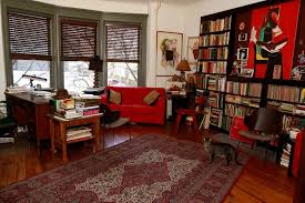 red home office. Library Knockout Home Office Beautiful Red Design