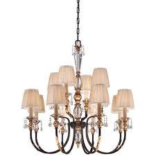 metropolitan lighting bella cristallo french bronze with gold leaf highlights 12 light chandelier
