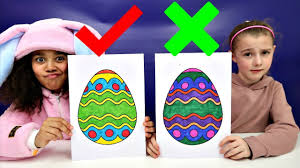 3 Marker Challenge Coloring Easter Eggs Toys Andme Youtube