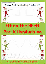 Elf on the Shelf Handwriting Worksheets for Kids – 3 Boys and a Dog